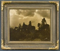 Title: The Storm - Apache , Date: 1904 , Size: 11 x 14 inches , Medium: Vintage Goldtone , Signed: Signed , Edition: Original