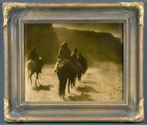Title:      Vanishing Race - Navaho , Date: 1904 , Size: 11 x 14 inches , Medium: Vintage Goldtone , Signed: L/R , Edition: Vintage