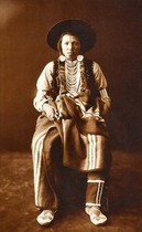 Title: A Yakima , Date: 1900 , Size: 15 x 9 3/4 inches , Medium: Gelatin Printing Out Print , Signed: L/L , Edition: Vintage