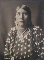 Title: Sioux Mother , Date: 1908 , Size: 8 x 6 inches , Medium: Vintage Platinum Print , Signed: L/R , Edition: Vintage