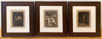 Title: Flute of the Gods Triptych , Size: 8 x 6 inches each , Medium: Silver Gelatin Border Prints , Signed: L/R
