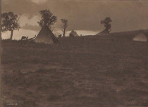 Title: Hilltop Camp -Jicarilla , Date: 1904 , Size: 6 x 8 inches , Medium: Vintage Platinum Print , Signed: L/R , Edition: Vintage