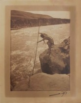Title: The Fisherman - Wishham , Size: 8 x 6 inches , Medium: Vintage Border Print , Signed: Signed , Edition: Vintage