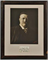Title: Theodore Roosevelt , Size: 15 1/4 x 11 3/8 inches , Medium: Vintage Silver Print , Signed: L/R , Edition: Vintage
