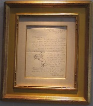 Title: Broncho Buster Letter with Drawing , Date: 1895 , Size: 11.5 X 8 inches , Medium: Pen , Signed: Signed