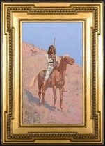 Frederic Sackrider Remington - An Apache (Indian on Horseback, alter.)