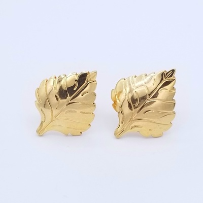 Title: Cuff Links: #4 14k Gold , Size: #4 , Medium: Sterling Silver , Signed: Signed