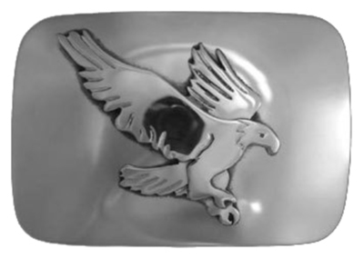 Title: Belt Buckle: Eagle , Size: 1 1/4 inches , Medium: Sterling Silver