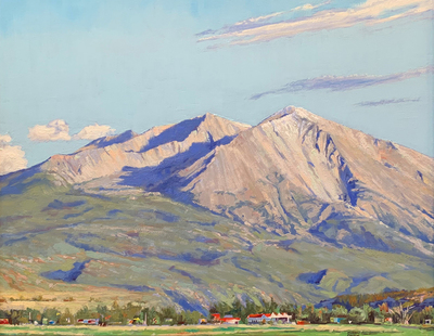 Title: Sopris Looming Over Carbondale , Size: 24 x 30 inches , Medium: Oil on Canvas , Signed: Signed