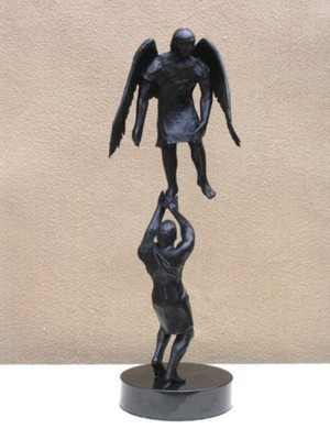 Title: Resolution , Size: 27 x 6 1/2 x 9 inches , Medium: Bronze , Edition: Ed. Of 10