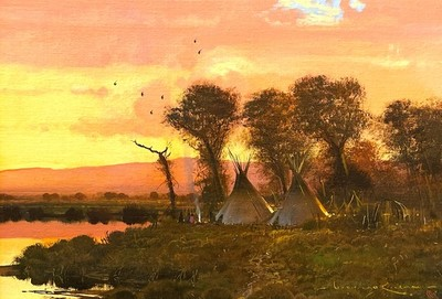 Title: The Days End , Size: 14 x 20 inches , Medium: Oil on Board , Signed: L/R , Edition: Original