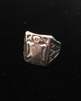Title: Ring: Mens Sterling Thunderbird , Size: 11 , Medium: Sterling Silver , Edition: Vintage