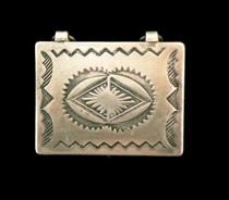 Title: Box:  Vintage Rectangular Silver Box , Size: 1 1/6