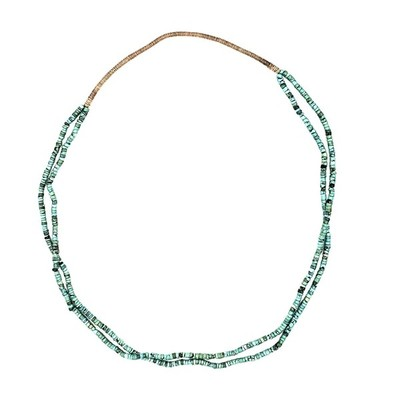 Title: Necklace: 2 Strand Turquoise w/Squaw Wrap , Medium: Turquoise , Edition: Vintage