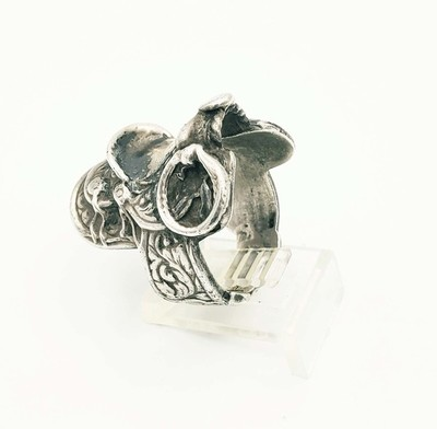 Title: Ring: Silver Saddle Ring , Medium: Sterling Silver