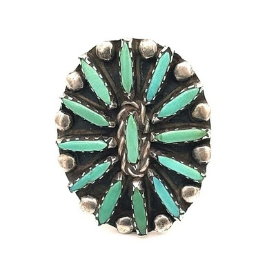 Title: Ring: Vintage Zuni Petite Point , Medium: Sterling Silver/Turquoise , Edition: Vintage