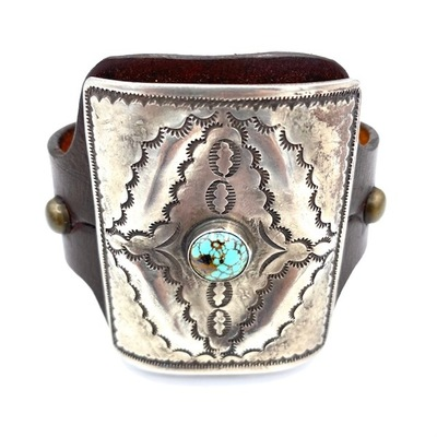 Title: Bracelet: Silver and Turquoise Ketoh , Medium: Sterling Silver
