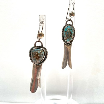 Title: Earrings: Squash Blossom Dangle , Medium: Sterling Silver