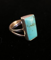 Title: Ring: Navajo Turquoise and Sterling Silver , Size: 6 1/2 , Medium: Sterling Silver