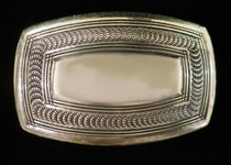 Title: Buckle: Sterling Silver Navajo , Size: 1 3/4 x 2 5/8 inches , Medium: Sterling Silver , Signed: Signed , Edition: Vintage