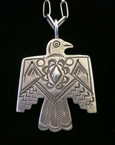 Title: Pendant: All Silver T-Bird on 24