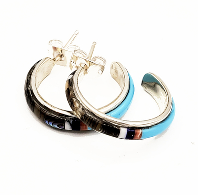 Title: Earrings: Heishi and Turquoise , Medium: Sterling Silver/Turquoise