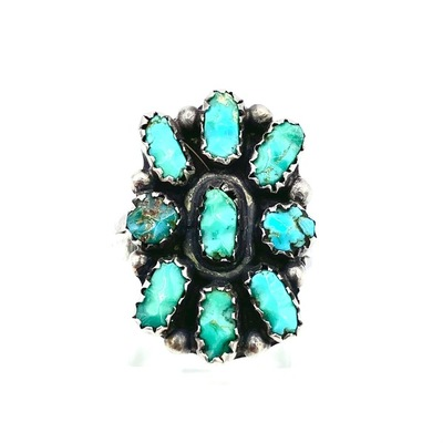 Title: Ring: Zuni Cluster , Size: 6 , Medium: Sterling Silver