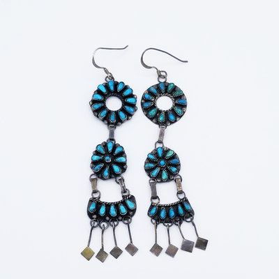 Title: Earrings: Zuni Petit Point Dangle Chanelier , Size: 3