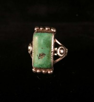 Title: Ring: Very Early Navajo with Great Stone , Size: 5 1/4 , Medium: Sterling Silver , Edition: Vintage