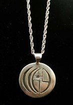 Title: Necklace: Navajo Pendant on Silver Chain , Size: 1