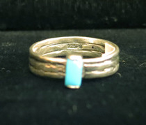 Title: Ring: Simple and Elegant with Sleeping Beauty Turquoise , Size: 7 1/2 , Medium: Sterling Silver , Edition: Vintage