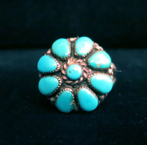 Title: Ring: Zuni Domed Cluster , Size: 6 1/2 , Medium: Sterling Silver , Edition: Vintage
