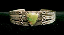 Title: Bracelet: Fred Harvey with Stamping , Medium: Sterling Silver , Edition: Vintage