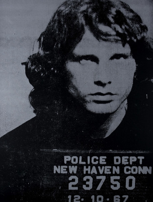Title: Jim Morrison , Size: 44 1/2 x 35 inches , Medium: Screen Print on Paper , Signed: Signed , Edition: 46/50