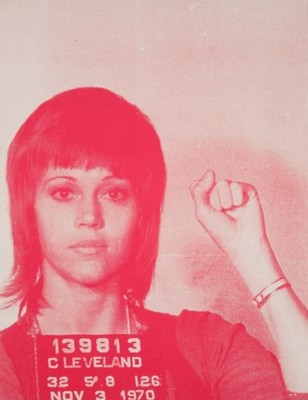 Title: Jane Fonda , Size: 44 1/2 x 35 inches , Medium: Screen Print on Paper , Signed: Signed , Edition: 38/50
