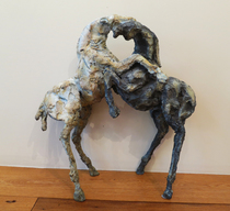 Title: Lucha (fight) , Size: 21 x 19 1/2 x 6 inches , Medium: Bronze , Signed: Signed , Edition: 4/25