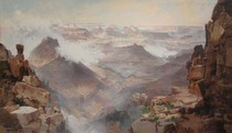 Title: Grand Canyon of the Colorado River , Date: 1893 , Size: 24 x 39 inches , Medium: Vintage Chromolithograph