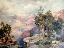 Thomas Moran - Grand Canyon of Arizona, from Hermit Rim Road