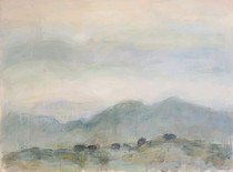 Title:   Sally's Angus Dr #3 , Size: 30 x 40 inches , Medium: Oil and Encaustic on Paper , Signed: Signed , Edition: Original