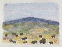 Title: Gallatin Angus 1 , Size: 34 x 45 inches , Medium: Hand Colored Lithograph , Signed: Signed , Edition: 56/60