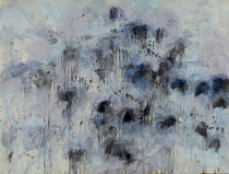 Title:   Pollack's Angus Dr #4 , Size: 30 x 40 inches , Medium: Oil, Encaustic, Graphite on Paper , Signed: Signed