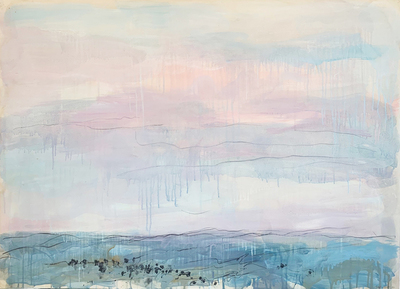 Title:   Montana Spring Dr. #4 , Size: 30 x 40 inches , Medium: Oil, Encaustic, Graphite on Paper , Signed: Signed , Edition: Original