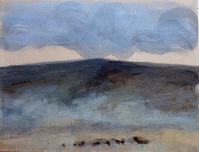 Title:   Horseshoe Hills Angus Dr. #4 , Size: 30 x 40 inches , Medium: Oil, Encaustic, Graphite on Paper , Signed: Signed , Edition: Original