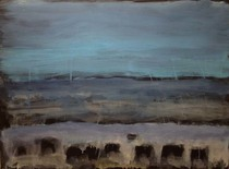 Title:   Dillon Angus Dr. #4 , Size: 22 x 30 inches , Medium: Oil, Encaustic, Graphite on Paper , Signed: Signed
