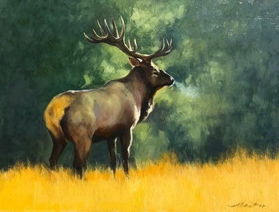 Title: Majestic , Size: 9 x 12 inches , Medium: Oil on Board , Edition: Original