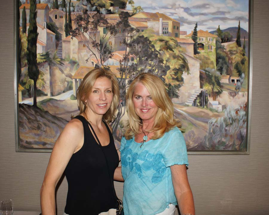 Gallery Owner Mia Valley with Nancy Mayer of Sojourner