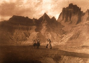 """In the Badlands - Souix"" by Edward S. Curtis"