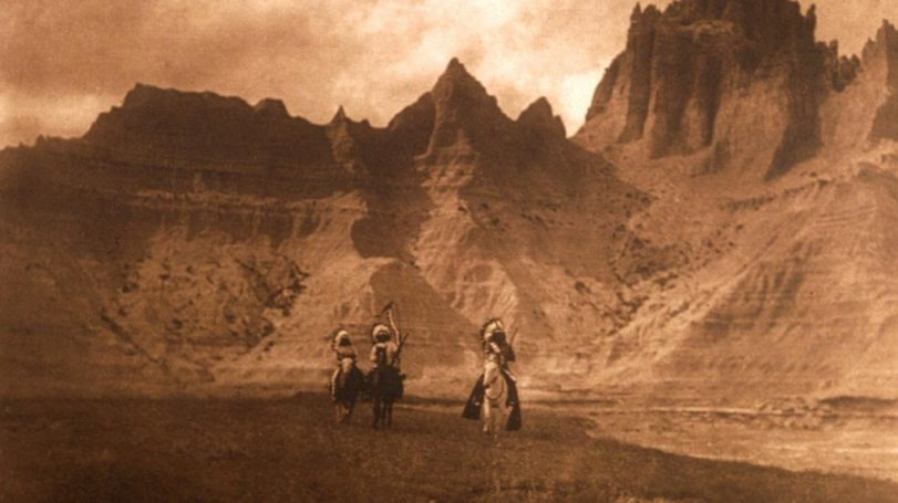 """Plate 119 """"In the Badlands - Sioux"""""""