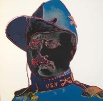 "Warhol screenprint: ""Teddy Roosevelt"""