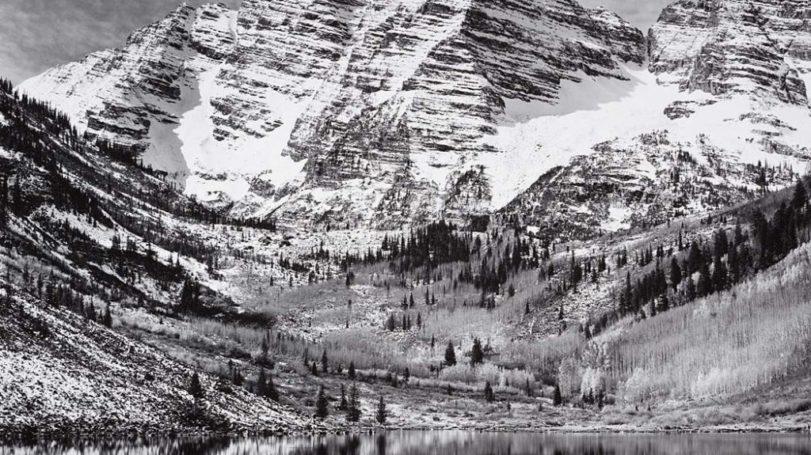Maroon Bells, Near Aspen, CO, 1951
